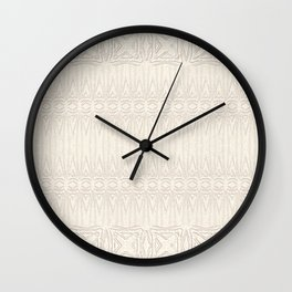 Cream and Coffee Chenille Digital Pattern Wall Clock