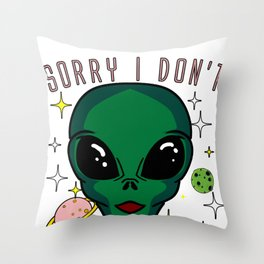 Alien Funny Human Ufo Gray Extraterrestial Gift Throw Pillow