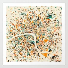 London Mosaic Map #4 Art Print