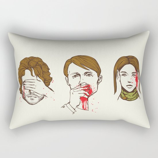 No Evil Hannibal Rectangular Pillow