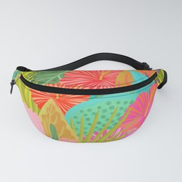 Saturated Tropical Plants and Flowers Fanny Pack