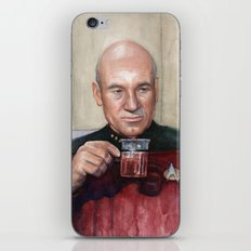 Tea. Earl Grey. Hot. Captain Picard Star Trek | Watercolor iPhone & iPod Skin
