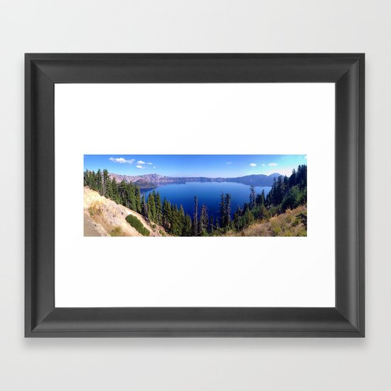 Crater Lake Framed Art Print
