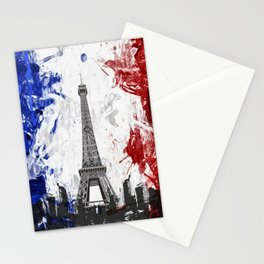 Eiffel Tower Painting Abstract Stationery Cards