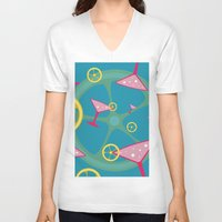 cocktail V-neck T-shirts featuring cocktail by vitamin