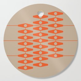 abstract eyes pattern orange tan Cutting Board