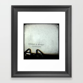 Forever and Always TTV Framed Art Print