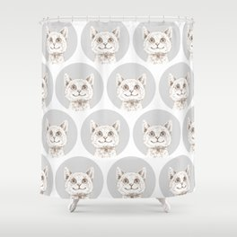 Happy Cat Shower Curtain