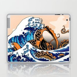 Kraken in Kanagawa Wave Laptop & iPad Skin