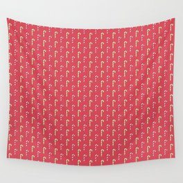 Red And Green Peppermint Christmas Pattern Wall Tapestry
