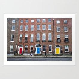 Colorful Doors in Dublin, Ireland Art Print