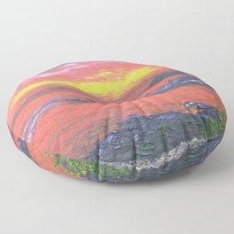 Oban Sunset Floor Pillow