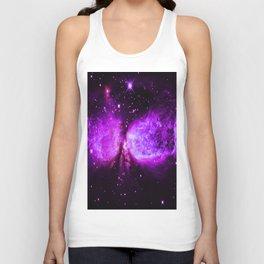 Space Galaxy : A star is born Purple Unisex Tank Top