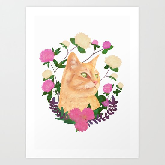 Ginger the Cat Art Print