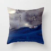 storm Throw Pillows featuring storm by agnes Trachet