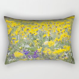 Meadow Gold - Wildflowers in a Mountain Meadow Rectangular Pillow