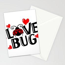 Vintage Valentines Day Love Bug Stationery Cards