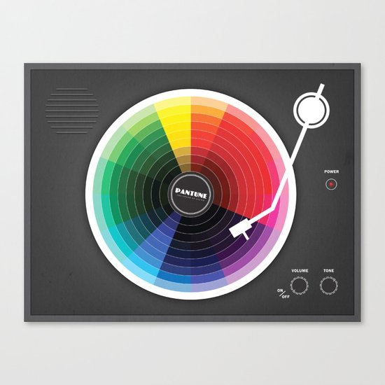 Pantune - The Color of Sound Canvas Print