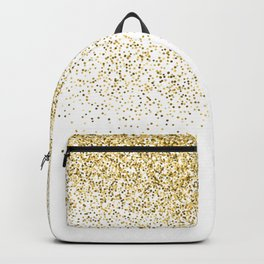 Gold Confetti Metallic Print Backpack