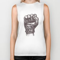 fight Biker Tanks featuring FIGHT by Lassana