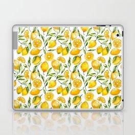 sunny lemons print Laptop & iPad Skin