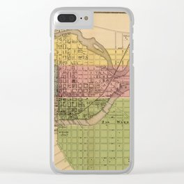 Map of Wilmington 1868 Clear iPhone Case