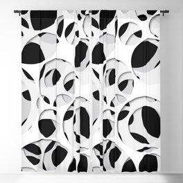 Paper cutout circles 009 Blackout Curtain