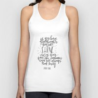 roald dahl Tank Tops featuring They Will Shine | Roald Dahl Print by Voilà Paper Co.