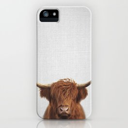 Highland Cow - Colorful iPhone Case