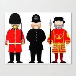 London Uniforms and Moustaches Canvas Print