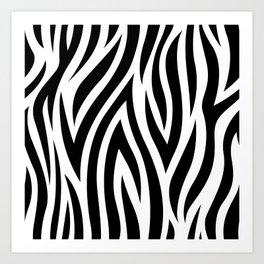 Large Zebra Animal Print Art Print