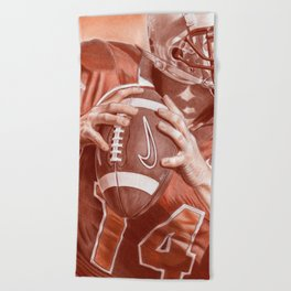 American Football Beach Towel
