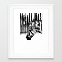 zebra Framed Art Prints featuring Zebra by Regan's World