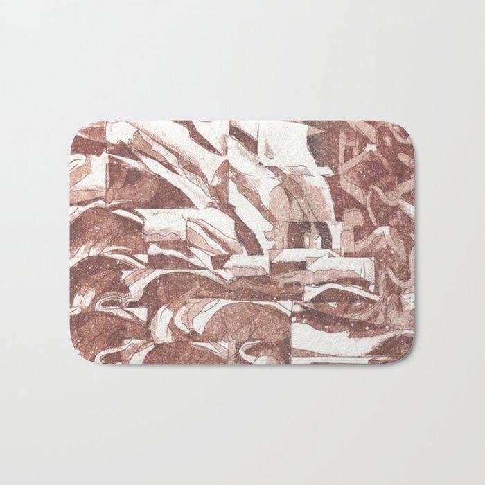 Fractured Flora Dusty Rose Bath Mat