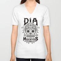 dia de los muertos V-neck T-shirts featuring Dia de los  Muertos  by Zak Rutledge