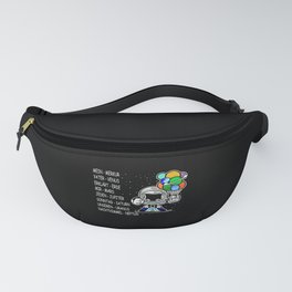 Planets Cosmos Moon Rocket Space Gift Boy Fanny Pack