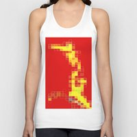 pixel Tank Tops featuring Pixel  by Lior Blum