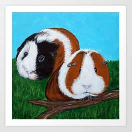 Guinea Pigs Painting Art Print