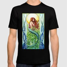 Kelp Forest Mermaid Mens Fitted Tee 2X-LARGE Black