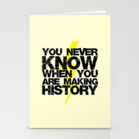 history Stationery Cards featuring HISTORY by Silvio Ledbetter