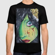 The accident  Black MEDIUM Mens Fitted Tee