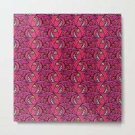 Escher Fish pattern IV Metal Print