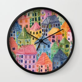 Summer City Wall Clock