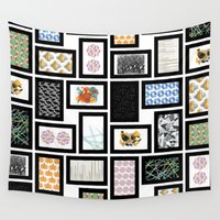 frames Wall Tapestries featuring Wall of Frames by Natalie North