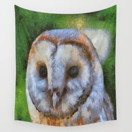 Tawny Owl In The Style of Camille Wall Tapestry