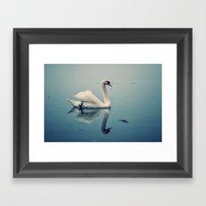 Act II: By a Lake: Scene: The swans swim on the lake Framed Art Print