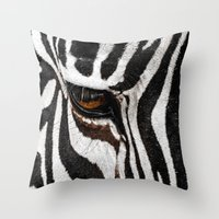 stripe Throw Pillows featuring Stripe by nigel3