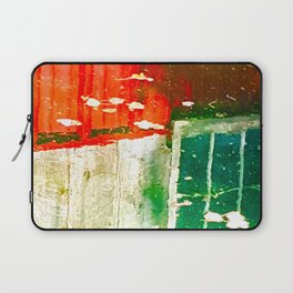 City Aflame and Drowning Laptop Sleeve