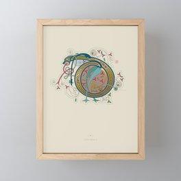 Celtic Initial D Framed Mini Art Print