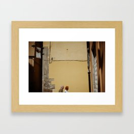 A street scene from Tuscany. Framed Art Print